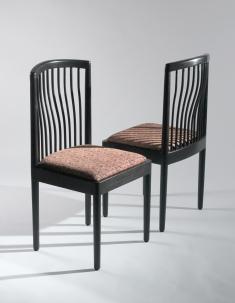 1305r102 James Kellogg, Breakfast Alcove Chair, black finish 36x18x19in.