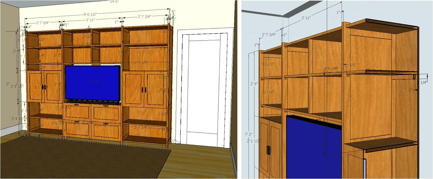How to build media center cabinet plans pdf plans for Media center plans