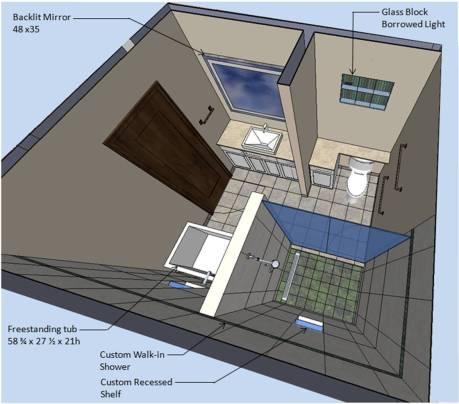 Mira - Bathroom 3D View