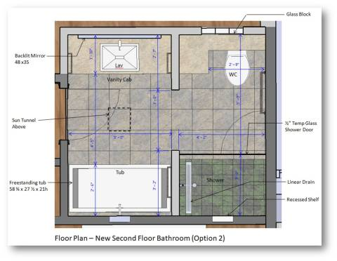 Mira - Bathroom Plan Option 2